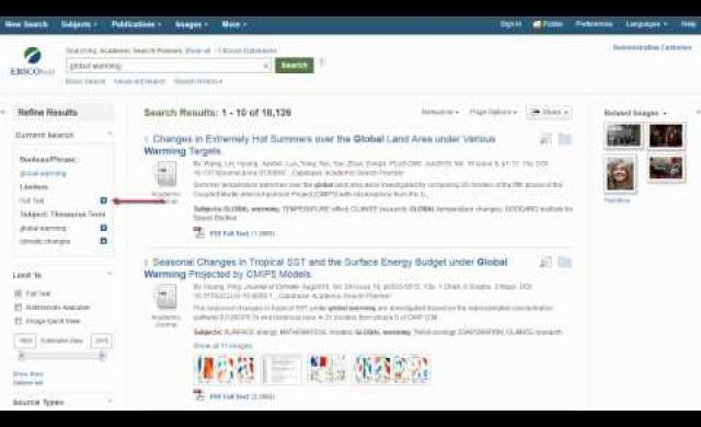 Introduction to EBSCOhost - Tutorial