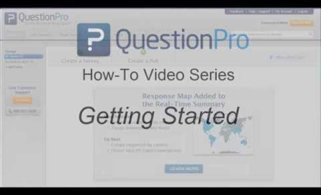 QuestionPro Getting Started Video